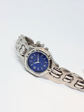 RARE Blue Dial Fossil Quartz Watch | Luxury Silver-tone Fossil Ladies Watch - Vintage Radar