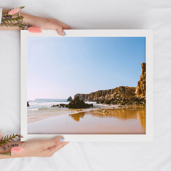 Pristine Beach Digital Print | Portugal Prints | Printable Wall Art - Vintage Radar