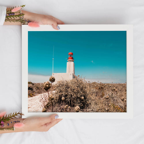 Lighthouse Digital Landscape Print | Printable Wall Art - Vintage Radar