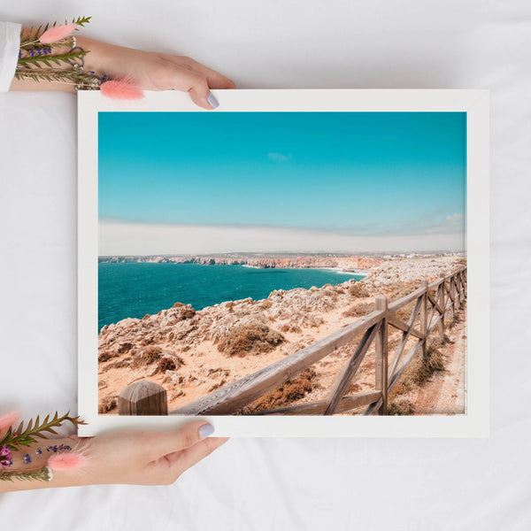 Pathway to the Ocean Print | Blue Ocean Digital Print | Printable Art - Vintage Radar