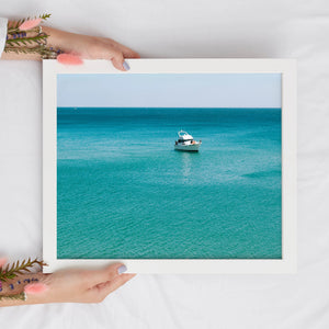 Turquoise Blue Ocean Print | Tropical Digital Prints | Printable Art - Vintage Radar