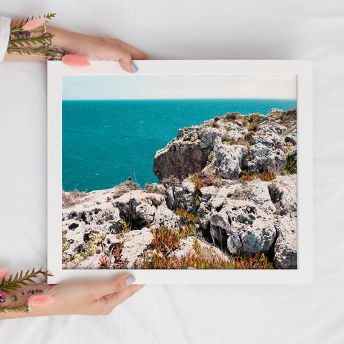 Ocean Front Landscape Digital Print | Printable Wall Art - Vintage Radar