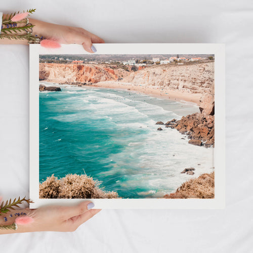 Atlantic Ocean Waves Digital Print | Tropical Beach Printable Wall Art - Vintage Radar