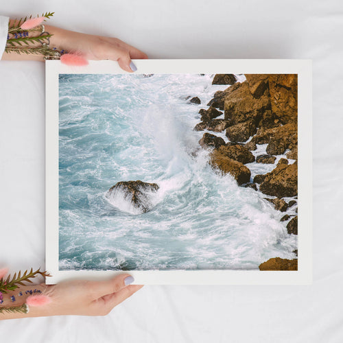Ocean Waves Digital Print | Calming Seaside Printable Wall Art - Vintage Radar