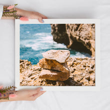 Load image into Gallery viewer, Stones on the Beach Landscape Print | Ocean Digital Print | Printable Art - Vintage Radar
