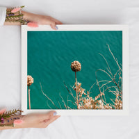 Wildflower Turquoise Print | Flower Digital Print | Printable Wall Art - Vintage Radar