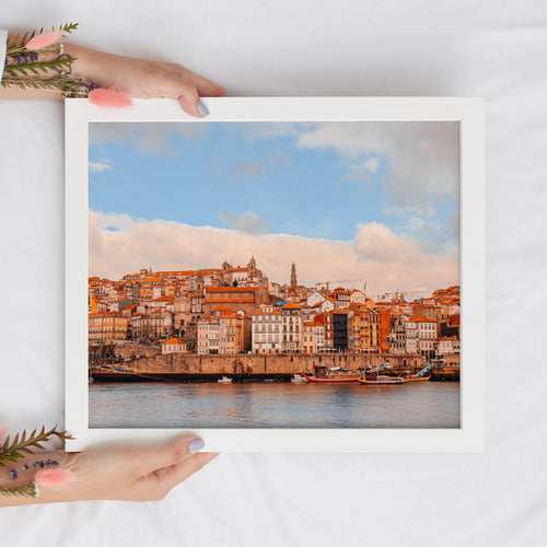 Colorful Porto Landscape Digital Print | Portugal Travel Wall Art - Vintage Radar