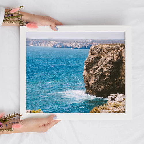Ocean Cliffs Landscape Print | Algarve Digital Prints | Printable Art - Vintage Radar