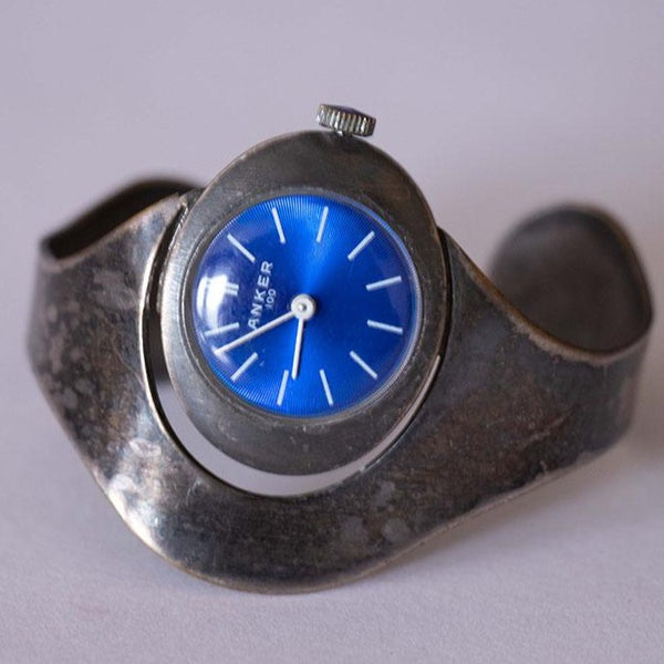Vintage Anker 100 Watch with Blue Dial | Vintage German Watches