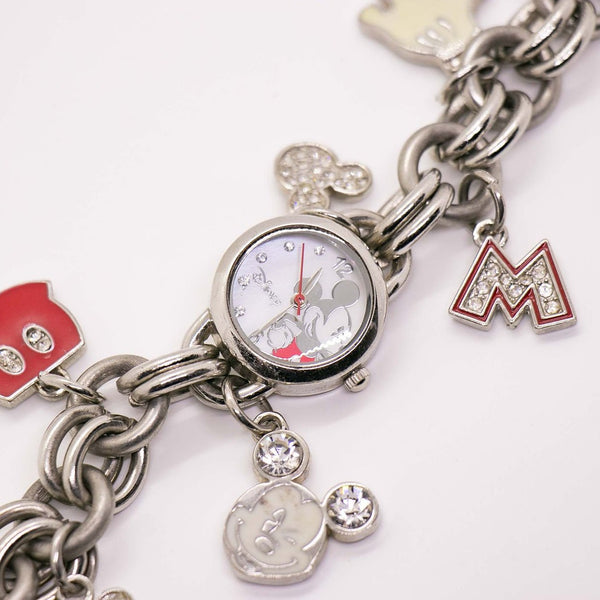 Silver-tone Mickey Mouse Watch with Disney Bracelet Charms