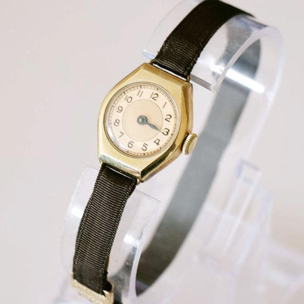 Art Deco 1940s Vintage German Watch - Gold-plated Ladies' Watch
