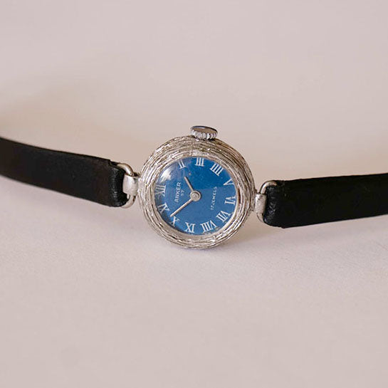 Vintage Anker 67 Blue Dial 17 Jewels Mechanical Watch for Women