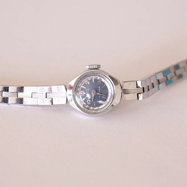 Vintage Silver-tone Lady de Luxe 17 Jewels Mechanical Watch for Ladies