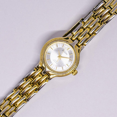 Minimalist Elgin Quartz Watch | Vintage Elgin Watch for Men or Women - Vintage Radar