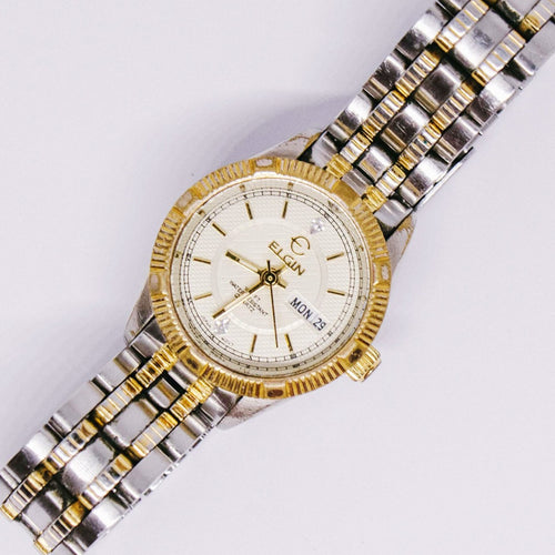 Vintage Elgin Quartz Watch | Two-tone Luxury Wedding Watch Unisex - Vintage Radar