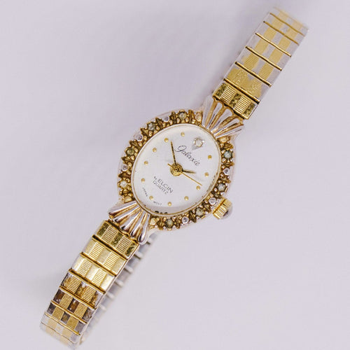 Galaxie by Elgin Quartz Watch | Vintage Luxury Elgin Watch for Women - Vintage Radar