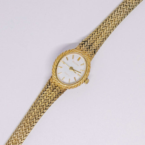 Vintage Luxury Ladies Elgin Watch | Gold-tone Elgin Women's Watch - Vintage Radar