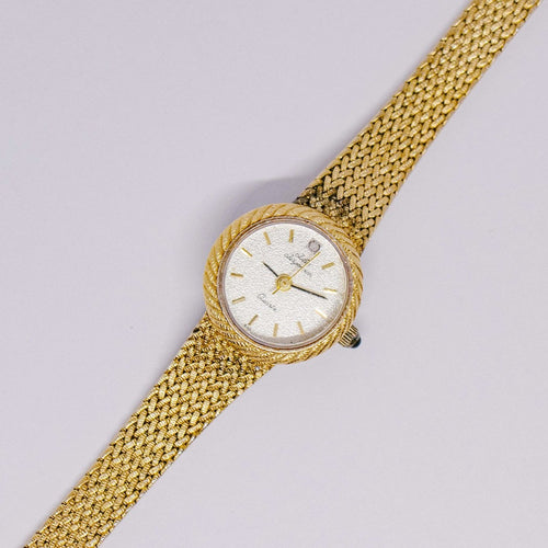 Gold-tone Vintage Jules Jurgensen Watch | Classic Vintage Wedding Watch - Vintage Radar