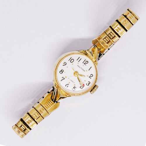 17 Jewels Mechanical Waltham Watch | Gold-tone Ladies Watch - Vintage Radar