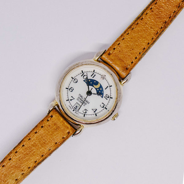 Moon Phase Waltham Quartz Watch | Unique Moonphase Vintage Watches - Vintage Radar