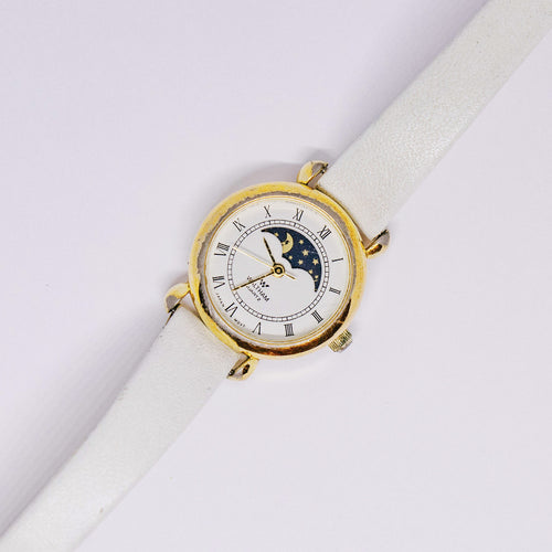 Gold-tone Waltham Moon Watch | Vintage Moonthase Watches - Vintage Radar