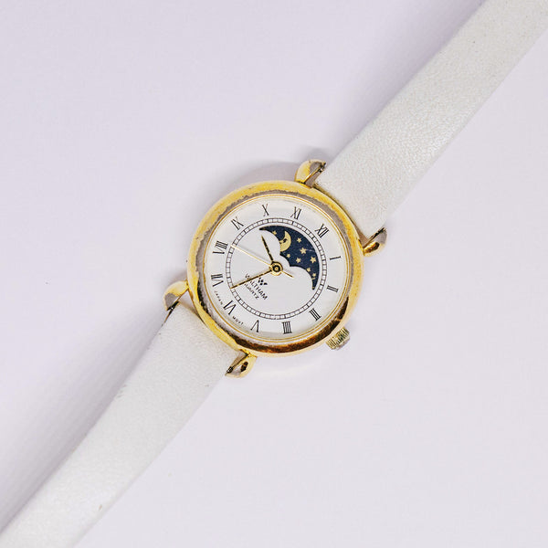 Gold-tone Waltham Moon Phase Watch | Vintage Moonphase Watches - Vintage Radar