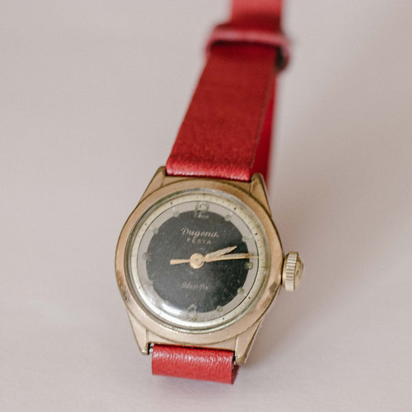 Rolled Gold 20 Microns Dugena Festa Vintage Watch for Women