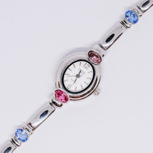 Embassy by Gruen Luxury Dress Watch | Silver-tone Tiny Ladies Watches - Vintage Radar