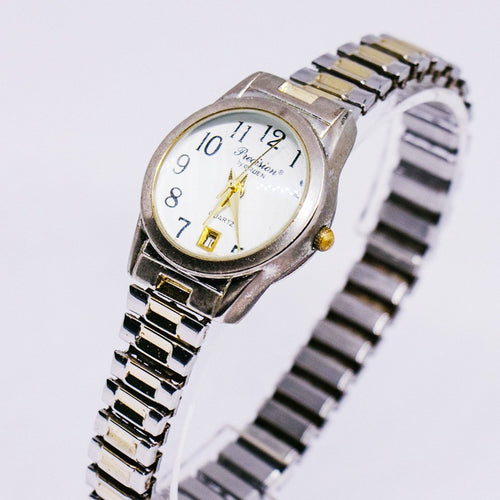 Precision by Gruen Women's Date Watch | Two-tone Quartz Watches - Vintage Radar