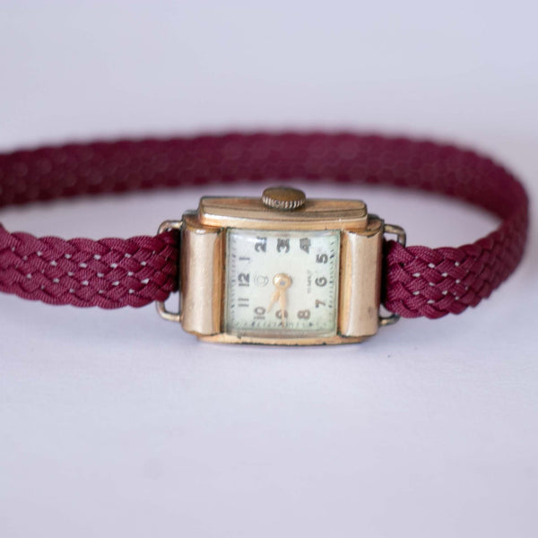 1940s Vintage Tank Watch for Women - Gold Plated Luxury Ladies Watch