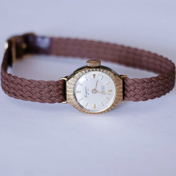 Vintage Dugena Ladies Gold Watch - Tiny 1960s Dugena Women's Watch