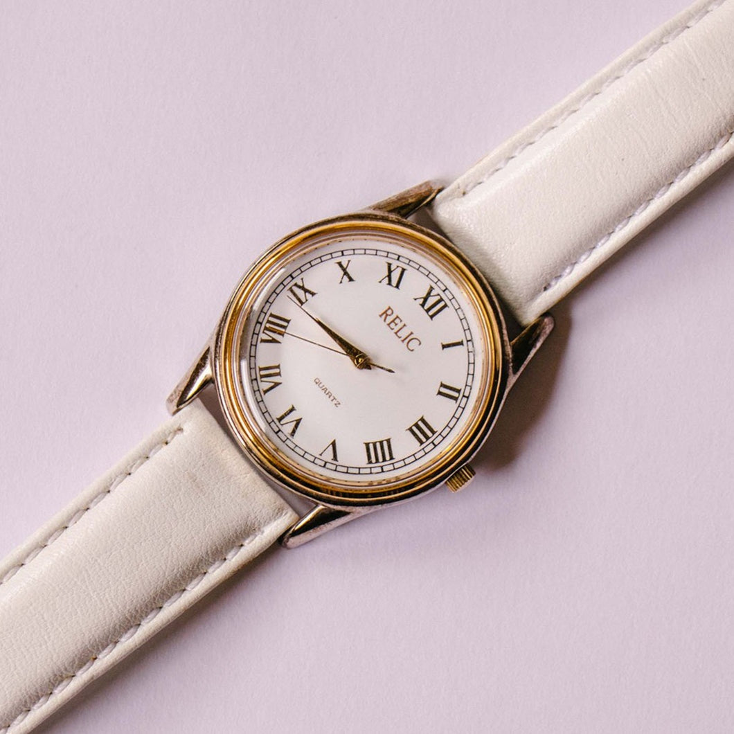 Gold-tone Relic Quartz Watch | Classic Relic by Fossil Watches - Vintage Radar