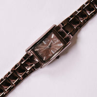 Square Relic by Fossil Quartz Watch | Chocolate Brown Ladies Watch - Vintage Radar