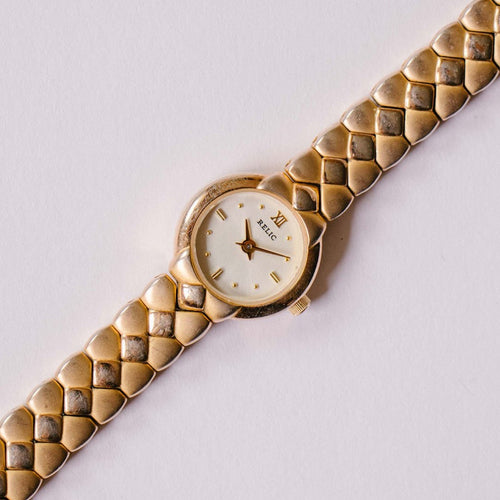 Tiny Gold-tone Relic Quartz Watch | Relic Watches for Women - Vintage Radar