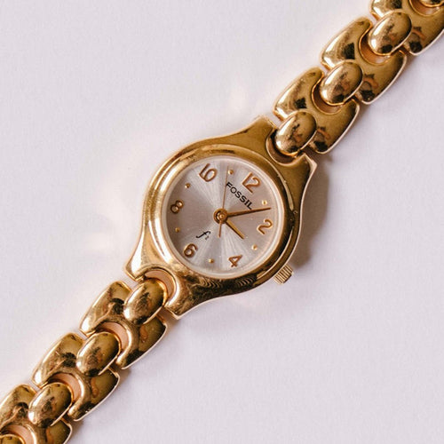 Gold-tone Fossil Watch Ladies | Luxury Fossil Ladies Watches on Sale - Vintage Radar