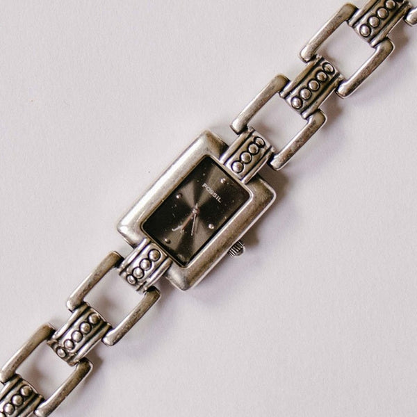 Silver-tone Bohemian Fossil Watch for Ladies | Unique Fossil Watch Bracelet - Vintage Radar