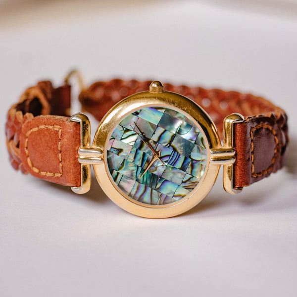 Blue Marble Relic Quartz Watch | Marble Effect Women's Watch - Vintage Radar