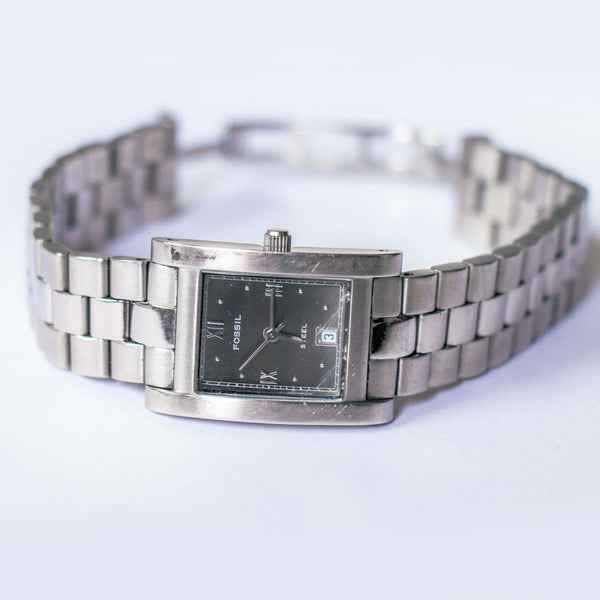 Silver-tone Fossil Solid Stainless Steel Watch | Fossil Watches WR100 - Vintage Radar