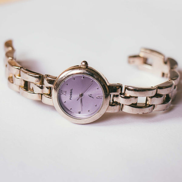 Purple Dial Silver-tone Fossil Watch | Nordstrom by Fossil Ladies Watch - Vintage Radar
