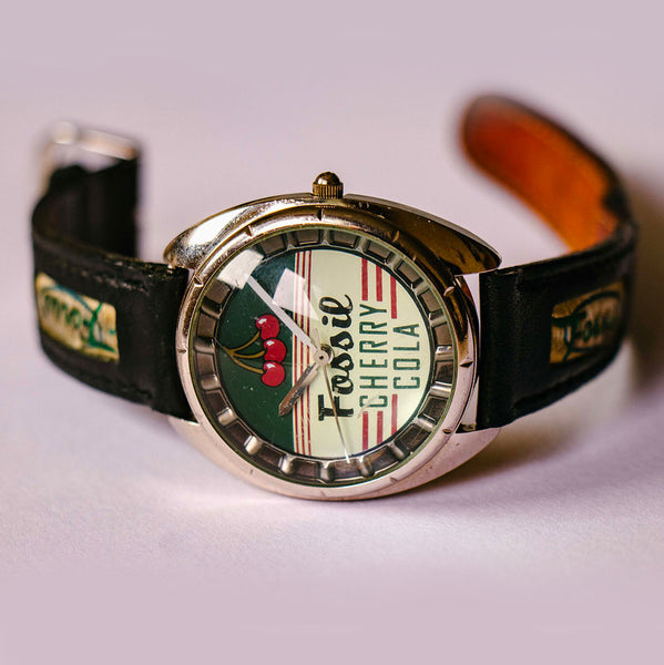 RARE Fossil Cherry Cola Watch Vintage | Fossil Road Trip Collection - Vintage Radar