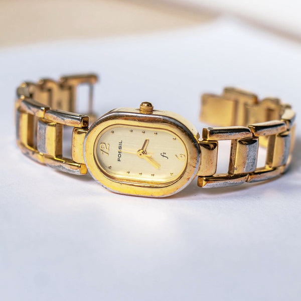 Luxury Gold-tone Fossil Ladies Watch | Elegant Occasion Wear Watch - Vintage Radar