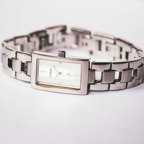 Stainless Steel Fossil Quartz Watch | Fossil Ladies Watch Silver-tone - Vintage Radar