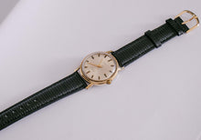 Load image into Gallery viewer, 1980s Gold Timex Electric Watch | 34mm Rare Vintage Timex Wristwatch