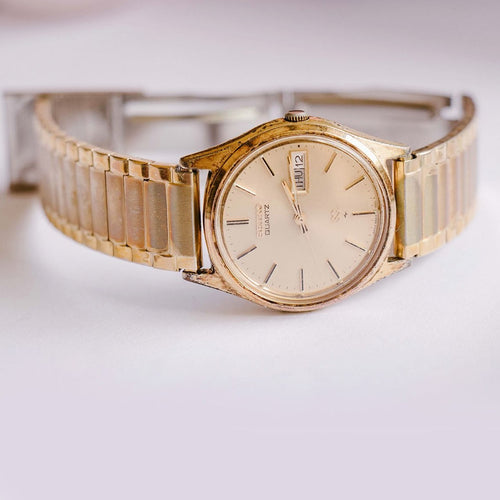 Gold-tone Seiko Vintage Watch for Men | 6923-7009 Seiko Watch Model - Vintage Radar