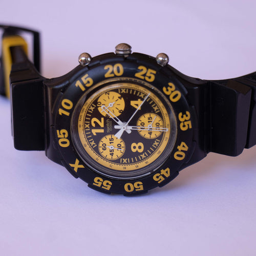 TRUCK DRIVER SBB103 Scuba Swatch | 90s Swiss Chronograph Watch