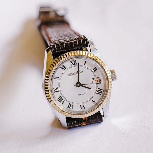 Mortima 17 Jewels Mechanical Watch | 80s Vintage French Mortima Watch - Vintage Radar