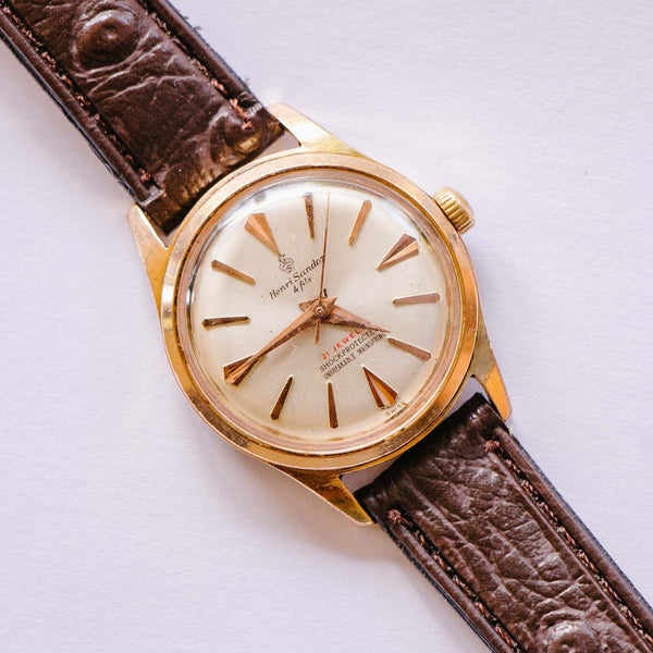 Henri Sandoz 21 Jewels Elegant Mechanical Watch | Vintage Swiss Watch - Vintage Radar