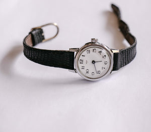 Small Silver-Tone Pax Mechanical Watch | Minimalist Vintage Watch - Vintage Radar