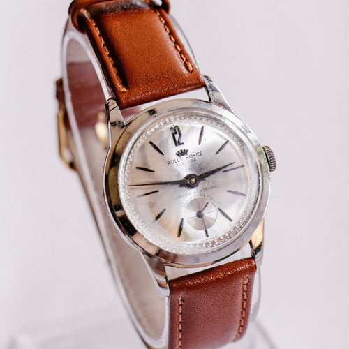Rolls-Royce Electra Silver-Tone Mechanical Watch | Swiss Made Vintage Watch - Vintage Radar