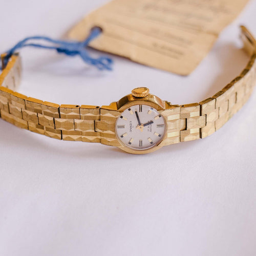 Gold-Tone 17 Rubis Ankra Mechanical Watch | Vintage Watch For Women - Vintage Radar